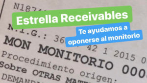 oposición monitorio estrella receivables